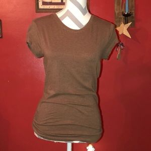 Fitted Plain Brown Tee